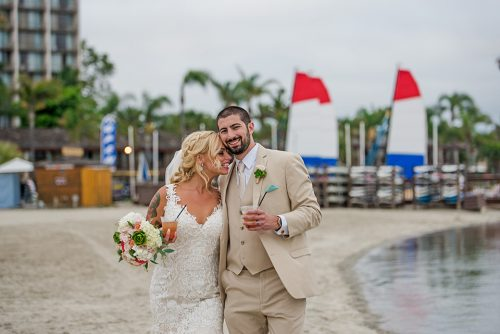 bride-and-groom-romantic-portrait-Catamaran-San-Diego