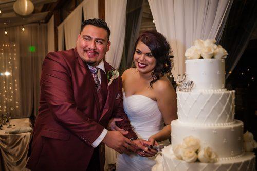 bride groom cutting the wedding cake jalea photography