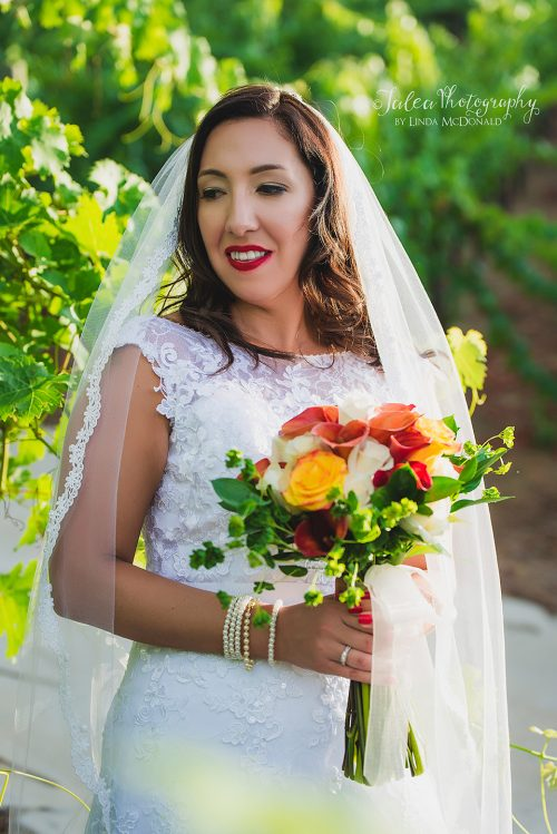 bride in vineyard at oak mountain winery temecula ca