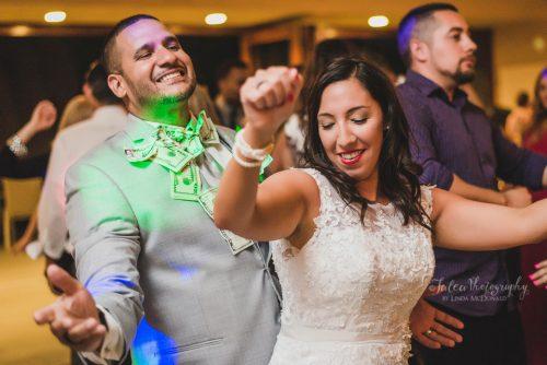 bride and groom dancing at wedding reception oak mountain winery temecula ca