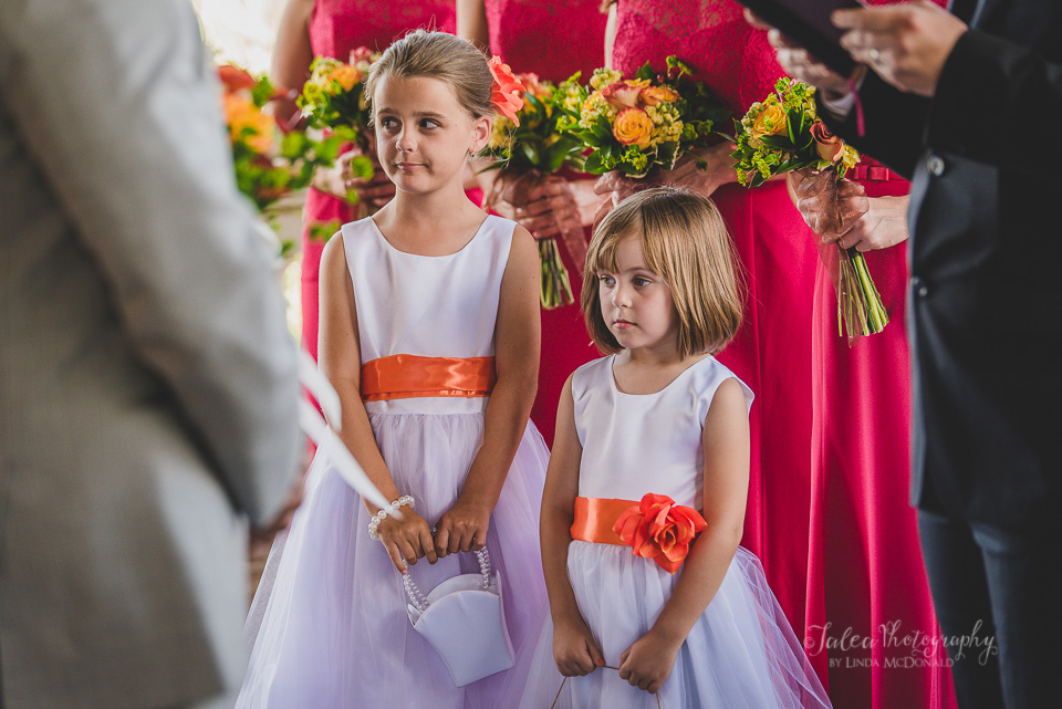 flower girls wedding ceremony oak mountain winery temecula ca