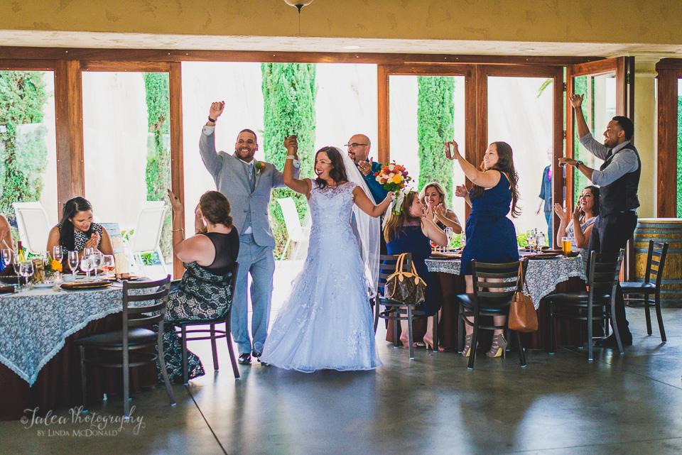 wedding grand entrance oak mountain winery temecula ca