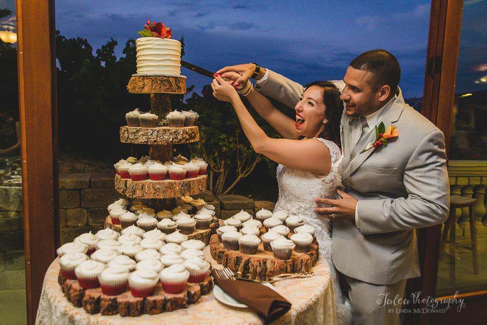 cake cutting oak mountain winery wedding temecula ca