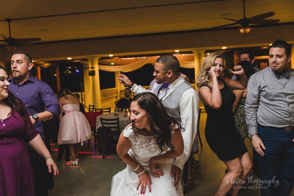 bride and groom dancing wedding reception oak mountain winery temecula ca