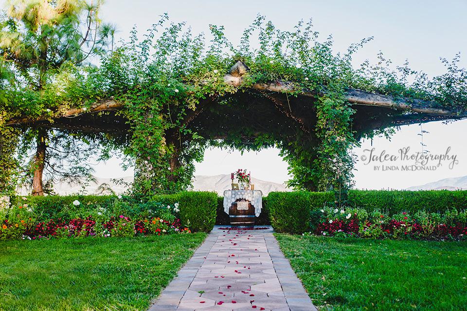 surprise wedding proposal set up Rose Arbor South Coast Winery