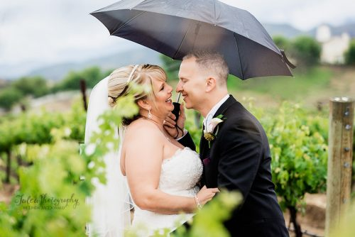 Bride And Groom Vineyard At Leoness Cellars Winery Temecula