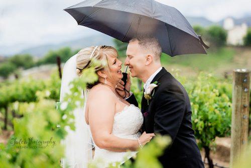Bride And Groom Vineyard At Leoness Cellars Winery Temecula