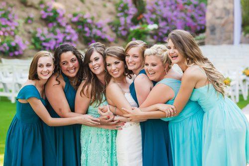 bride-bridesmaids-in-a-row-san-diego-wedding-photographer