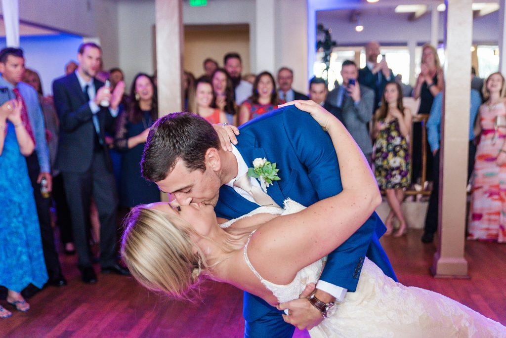 bride-groom-first-dance-wedding-reception-Marina-Village-Wedding-San-Diego-Photographers