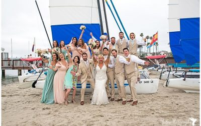 Fun San Diego Beach Wedding | Catamaran Resort San Diego | Crystal & Dan