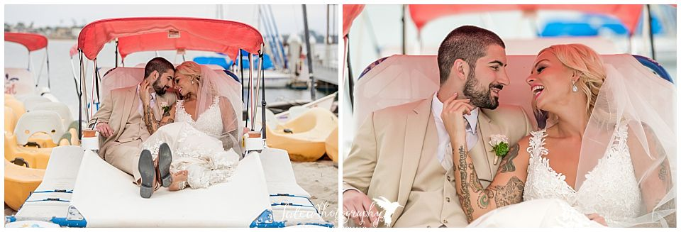 bride-groom-cuddling-laughing-in-small-boat-on-mission-bay-san-diego