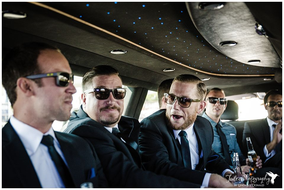 groomsmen-partying-in-a-limousine