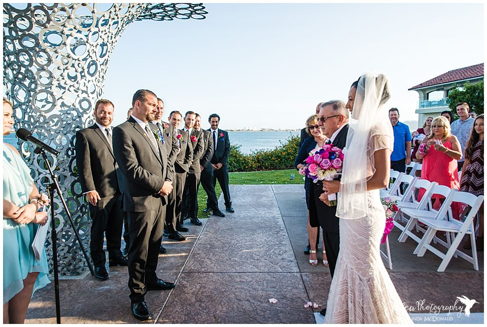 bride-approaching-groom-wedding-processional