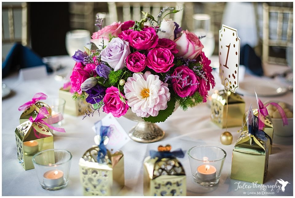 fuchsia-purple-flower-arrangement-reception-setting