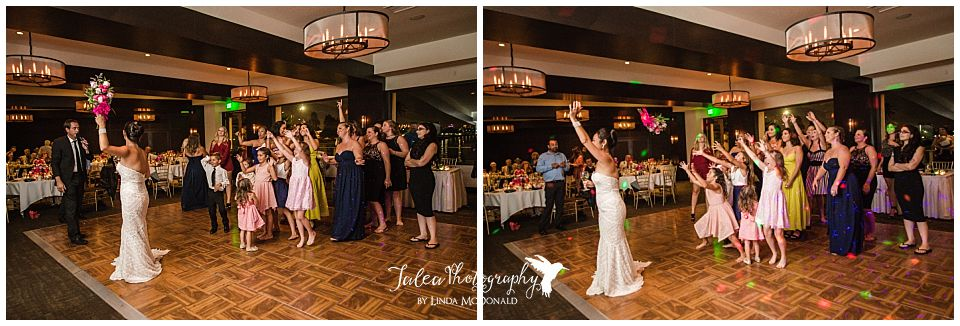 bride-tossing-bouquet-at-wedding-reception