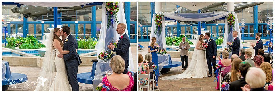first kiss balboa park museum wedding