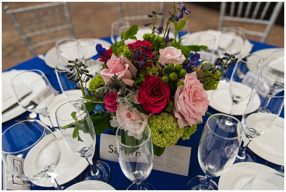 wedding reception table flowers