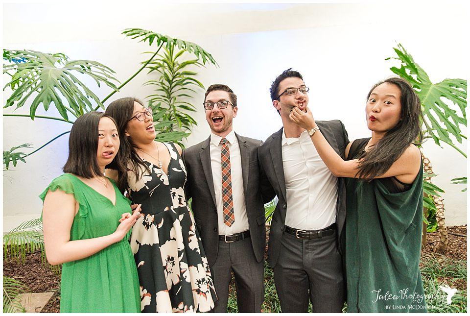 guests having fun at wedding reception