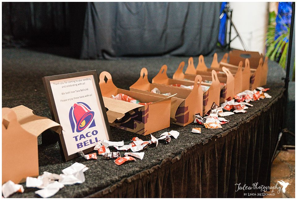 taco bell delivery at wedding reception
