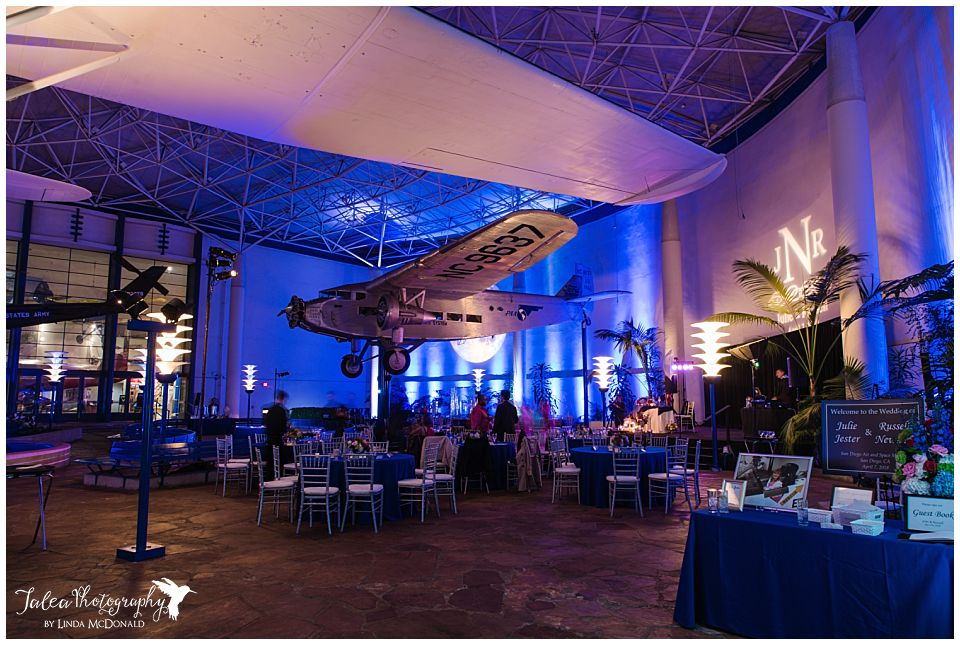 long exposure photo wedding reception balboa park museum