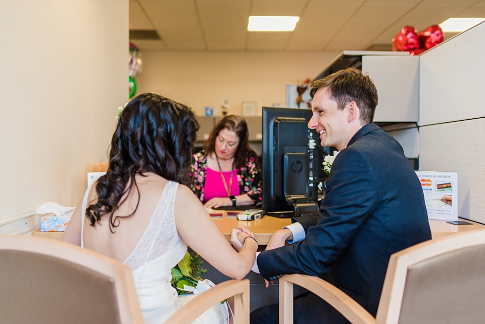 couple applying for marriage license at san diego courthouse