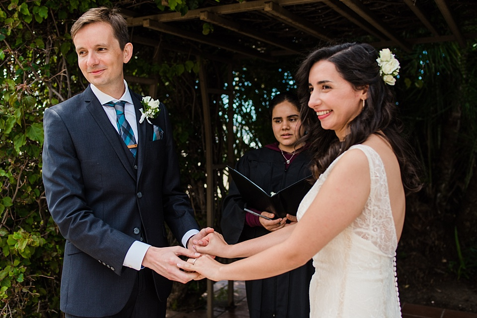 outdoor civil marriage ceremony san diego courthouse wedding photos