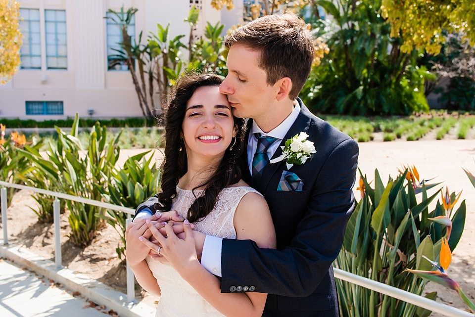 couples wedding portrait san diego courthouse wedding photographer