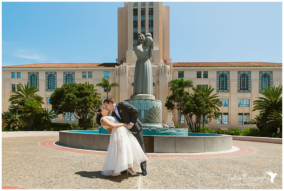 groom-dipping-bride-san-diego-courthouse-wedding
