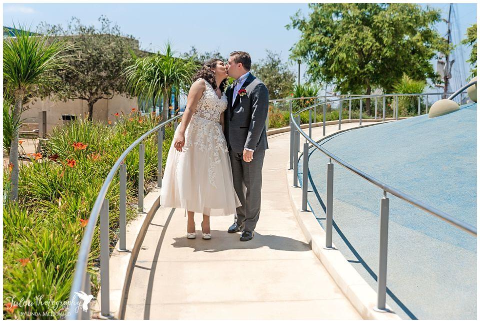 couple-kissing-san-diego-county-courthouse-marriage