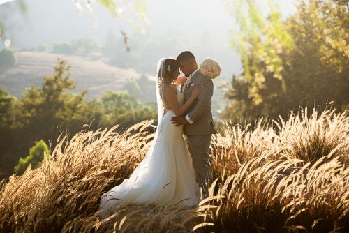 bride groom romantic wedding portrait twin oaks golf course san diego