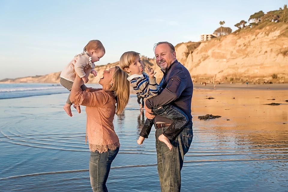 la jolla family photography having fun on the beach