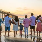 family lifestyle sunset photo san diego beach