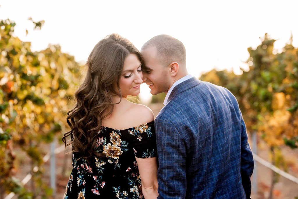 couple posing in Temecula winery