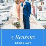 Pinterest Cover Photo Bride Groom On Docks At Marina Village