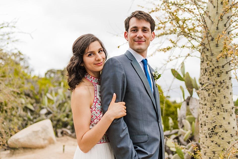 couples portrait balboa park cactus garden