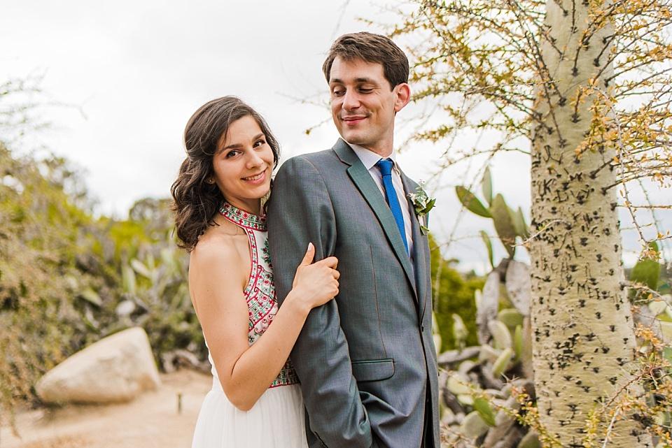 couples wedding portraits cactus garden san diego balboa park