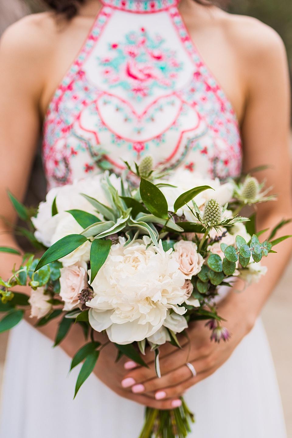 bridal bouquet san diego old cactus garden elopement