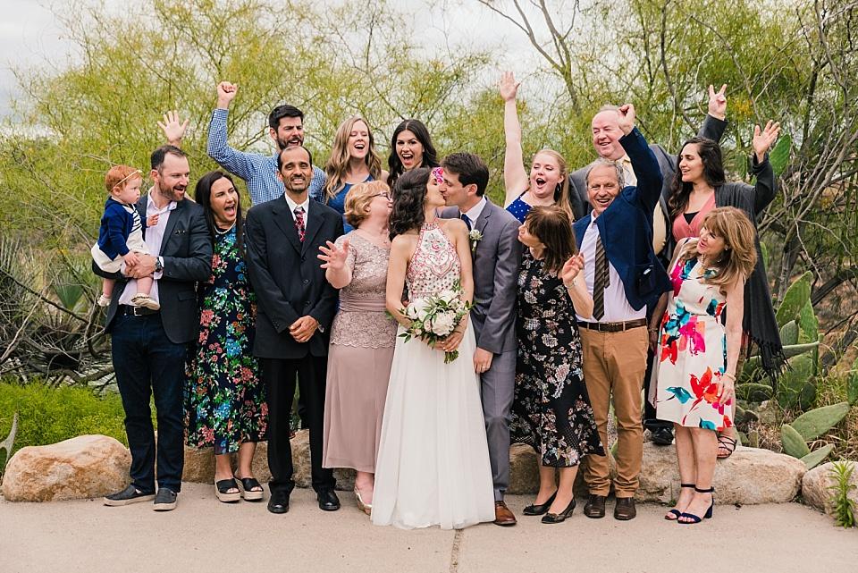 desert garden balboa park wedding group portrait