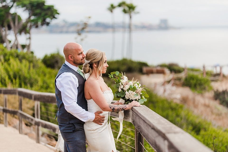 newlyweds overlooking pacific ocean outdoor venues san diego