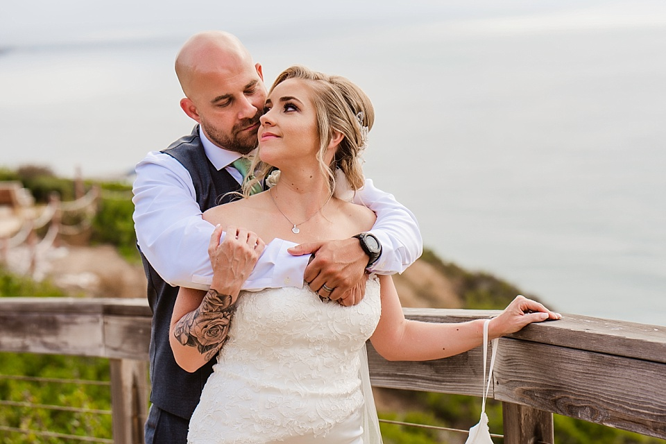 newlyweds in a romantic embrace la jolla venues