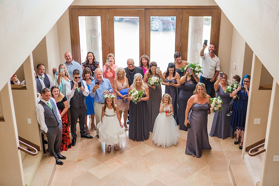 guests first look reaction wedding photos