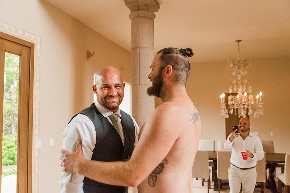 groom reaction first look wedding photos