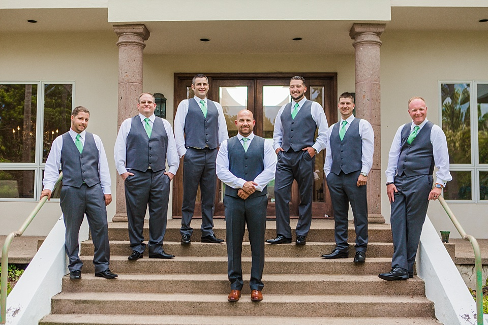 groomsmen group portrait la jolla wedding