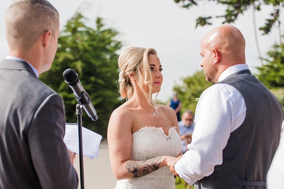 bride facing groom la jolla weddings