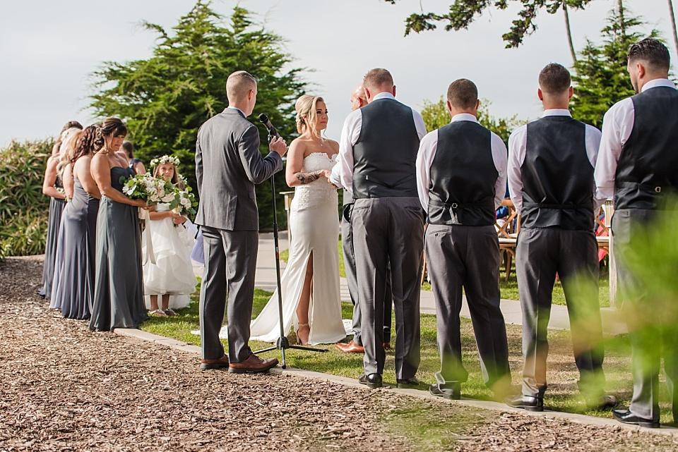 the martin johnson house wedding ceremony