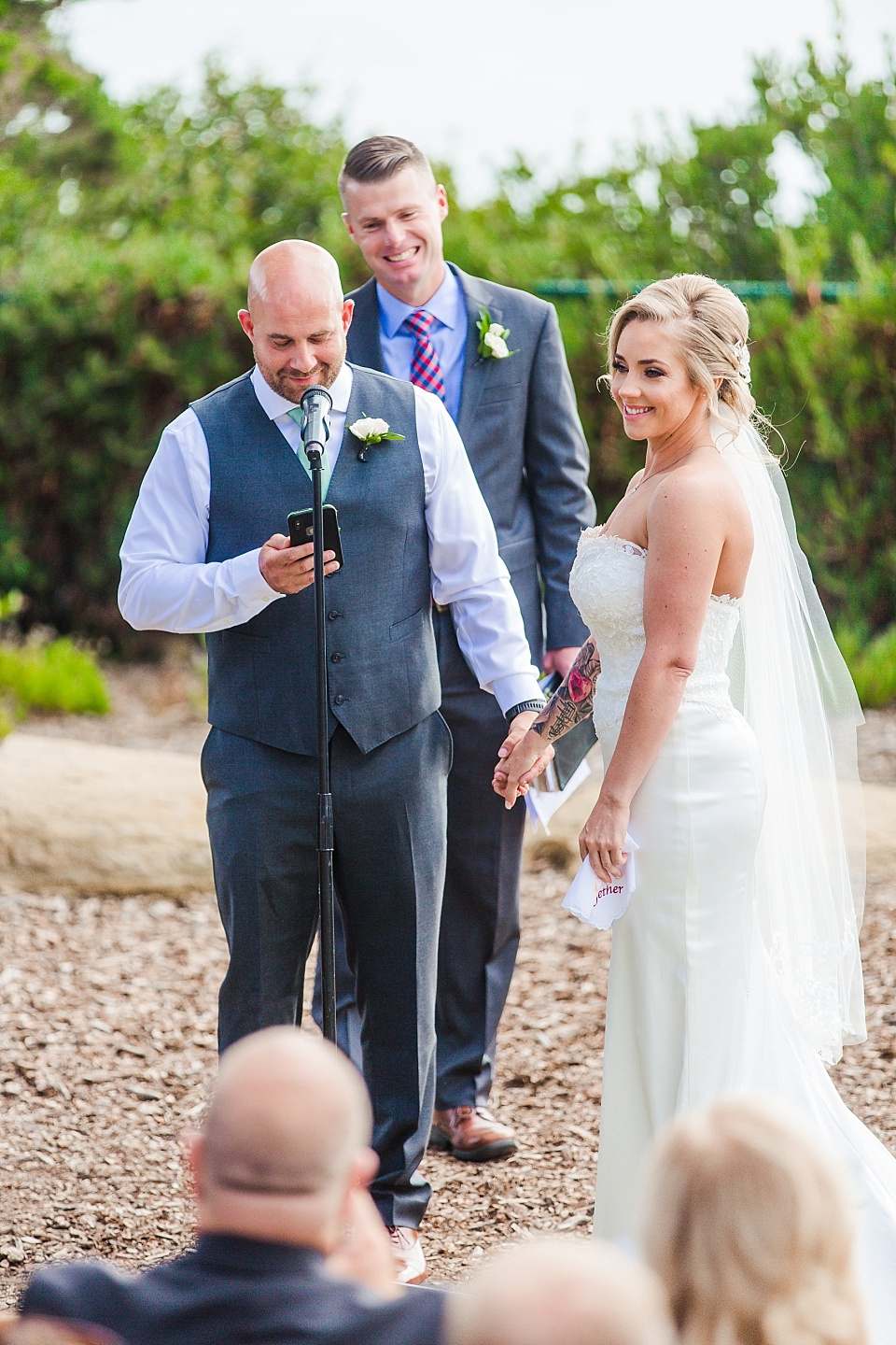 groom reading vows la jolla wedding venues