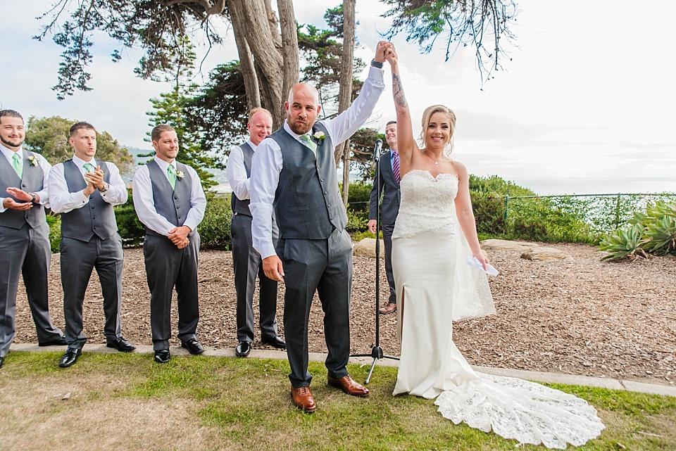 wedding ceremony at the martin johnson house