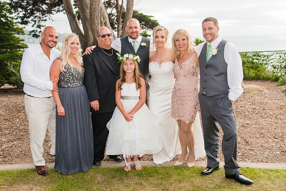 family formal portrait martin johnson house la jolla rustic wedding