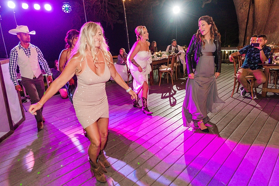 bride line dancing at reception la jolla wedding photographer