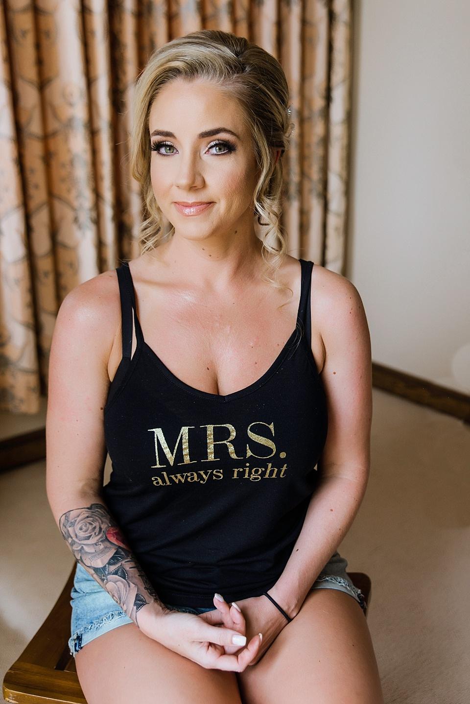 pretty portrait of bride getting ready for wedding la jolla venues